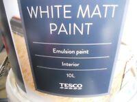 WHITE MATT EMULSION PAINT 10L unopened