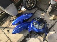 Chinese 125cc moped for parts good engine plastics see pics