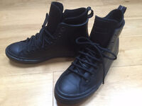 NEW! Converse Chuck Taylor All Star II Black Leather mens boots trainers Size 8