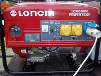 LONCIN (4.5KW) 4 STROKE PETROL GENERATOR WITH LOW OIL AUTOMATIC SHUTDOWN (NEW)