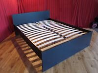 *EX-DISPLAY* Neo Black Wood King Size Bed Base Only - Not Leather, Fabric, Metal, Futon