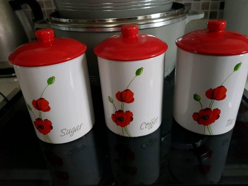 Tea Sugar And Coffee Jars In Bradford West Yorkshire Gumtree