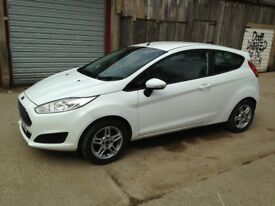 Ford Fiesta 2014 3 door 1242cc petrol in white