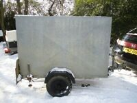 6-0 X 4-0 X 4-0 GALVANISED STEEL BOX TRAILER WITH DOUBLE DOORS....