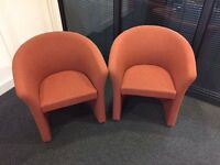 RECEPTION/OFFICE/MEETING/WAITING/GUEST/STYLISH/ORANGE CHAIRS (URGENT SALE)