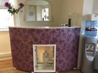 Reception desk ideal for beauty or nail salon