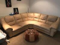 Corner Sofa Genuine Leather
