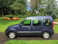 top of the range Renault kangoo crew van with disabled access. also ideal for dogs work leisure