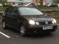 2003 VW POLO 1.4 AUTOMAITC * 5 DOOR * LONG MOT * BLACK * PART EX WELCOME * DELIVERY
