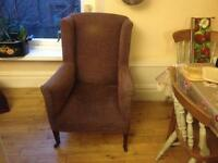 Antique Edwardian armchair for reupholstering