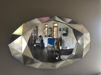 Decknudt Large champagne geometric mirror