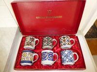 Set of Handpainted Stoneware Mugs