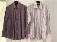 2 x men's long sleeved shirts size s and 3 £3.00 each