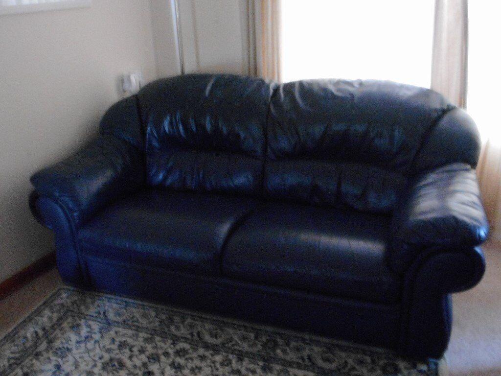 Super 2 Dark Blue Nicoletti Italian Leather Sofas In Currie Edinburgh Gumtree Ncnpc Chair Design For Home Ncnpcorg