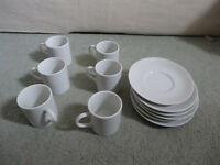 6 Habitat espresso cups with saucers - brand new