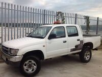 TOYOTA HILUX D/C 2.5 EX TD 4X4 MANUAL WHITE