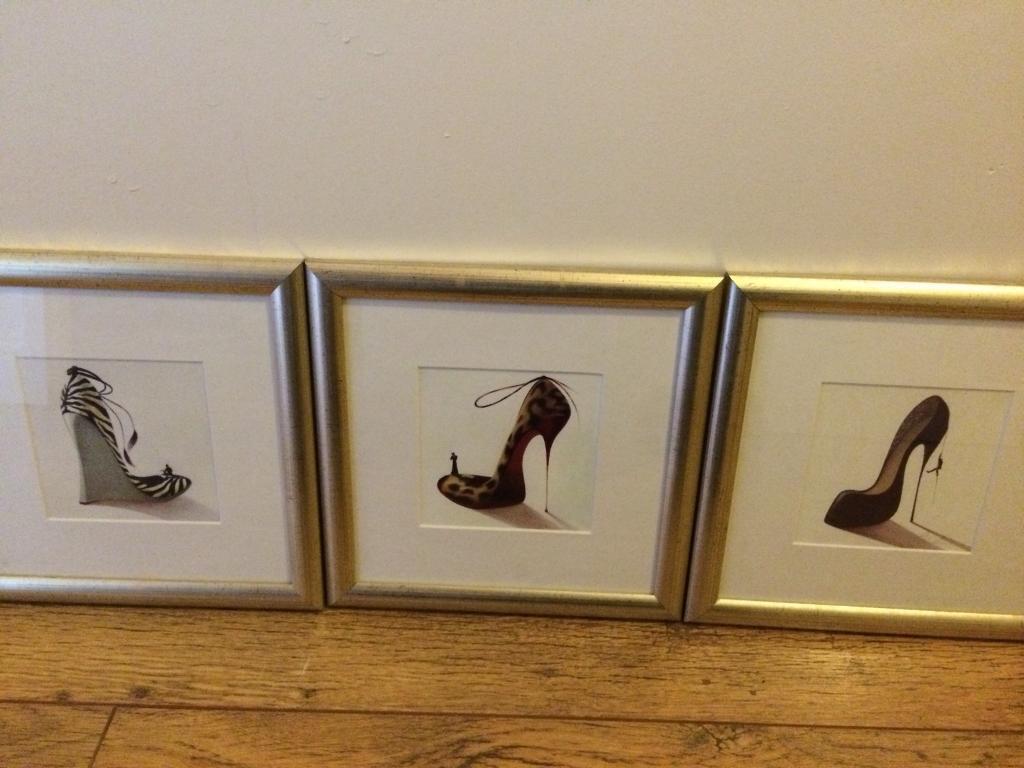 Set of framed shoe prints