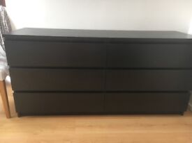 Free black drawer chest of 6 drawers