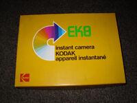 EK8 Genuine 1970's Polaroid Instant Camera With Original Box. Excellent Condition.