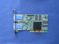 Matrox G450 Dual head Graphics card (G45+MDHA32D/DEL) AGP - 2 x 15 pin VGA