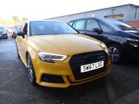 AUDI A3 1.5 TFSI Black Edition [Pan Roof, Sat Nav] 5dr S Tronic Auto (yellow) 2017