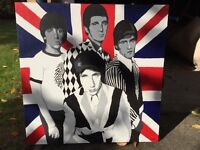 Great quality canvas painting of The Who by SJ Crossley 2005. (92cm x 92cm)