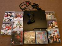 PS3 with 10 games and controller