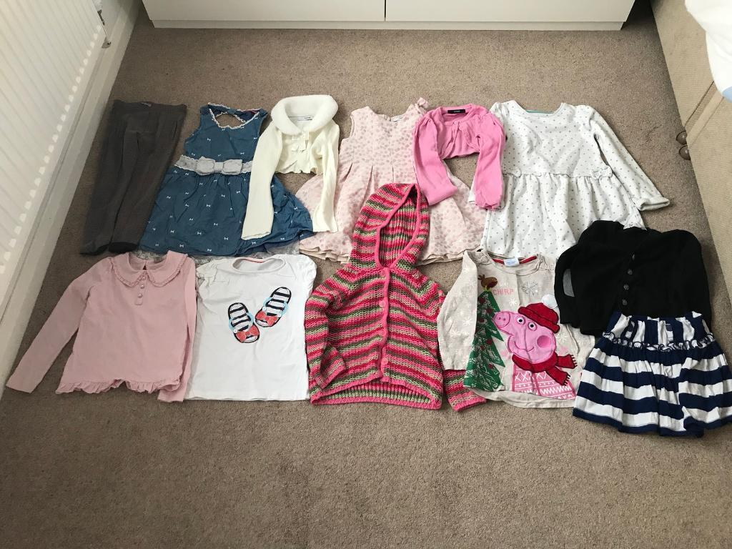 Bundle of girls clothes aged 4-5 years old
