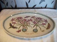 PORTMEIRION SERVING PLATTER /MEAT PLATE WITH ASSESORIES EX COND