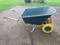 Large double wheel barrow