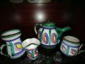 Tintagel Pottery Dragons Eye design tea pot