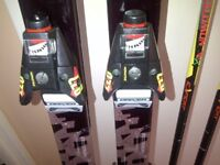 Solamon Ski's Poles and bindings for sale