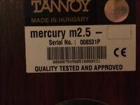 Tannoy Mercury M2.5 Floor Standing Speakers + Stands