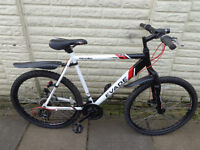 mens apollo aluminium front suspension bike, new lights, d-lock excellent condition FREE DELIVERY