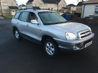 2005 HYUNDAI SANTA FE 4X4 AUTO MOTED 7 MONTHS GOOD CONDITION £995 PX WELCOME