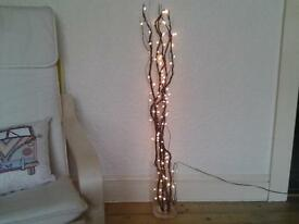 """CHRISTMAS"" FLOOR/TABLE TALL TWIGS WITH WARM WHITE LIGHTS"