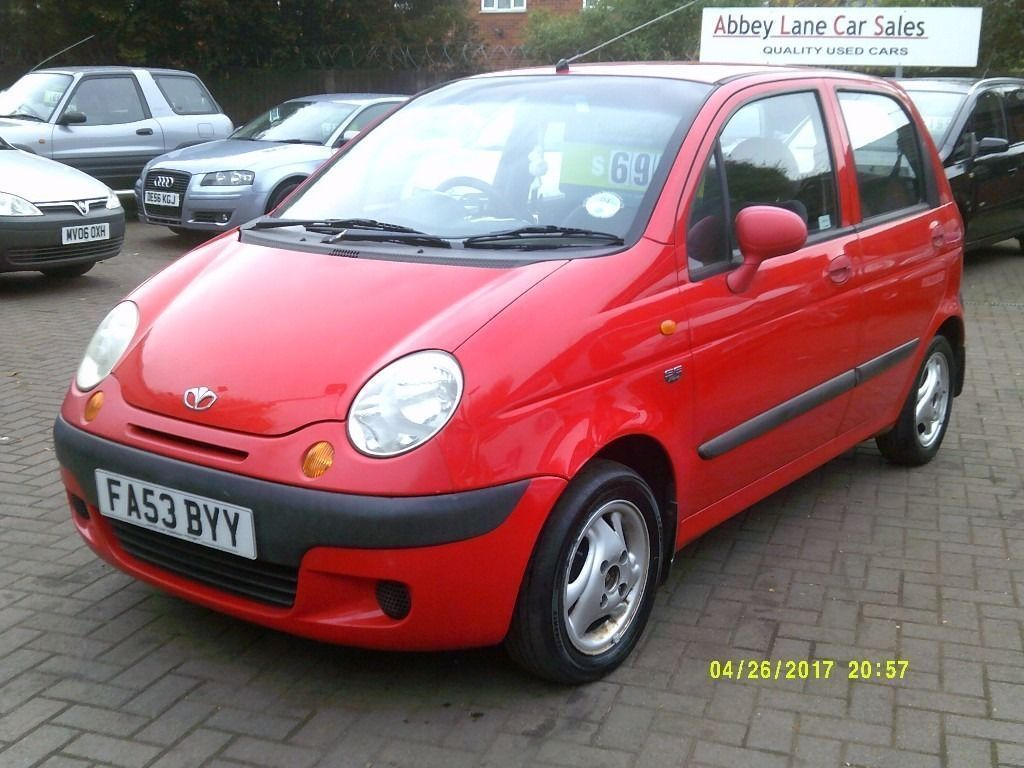 daewoo matiz 1 0 se 5dr 2003 53 reg red ideal first car full mot service history bargain. Black Bedroom Furniture Sets. Home Design Ideas