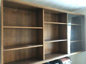 Glass Shelving Unit / Trophy Cabinet / Office Wall Unit