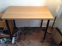 Light wooden table, 100x60cm