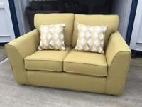 Lime Green fabric 2 seater sofa (New ex display)