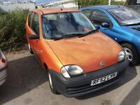 FIAT SEICENTO 1.1 3 DR HATCHBACK LOW MILEAGE MOTED