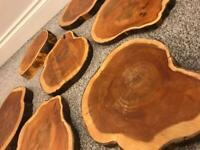Hardwood treated table centrepieces