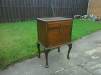 Old oak bedside cabinet