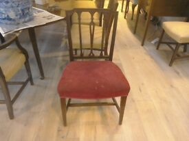 Antique mahogany dining chair