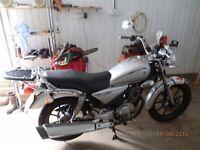 Yamaha 125cc motorbike