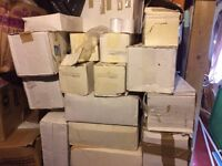 more than 20 boxes of till receipt printer paper rolls different sizes some are thermal