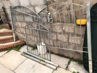 Galvanised metal gate