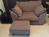 Snuggle Sofa & Footstool
