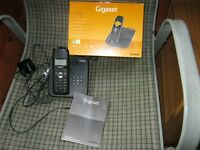 GIGASET AS 185 single remote telephone in original box with manual and ready to go in perfect order