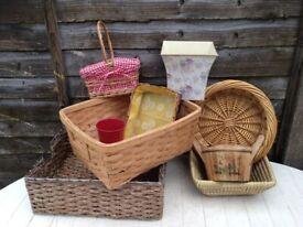 Wicker baskets , craft items